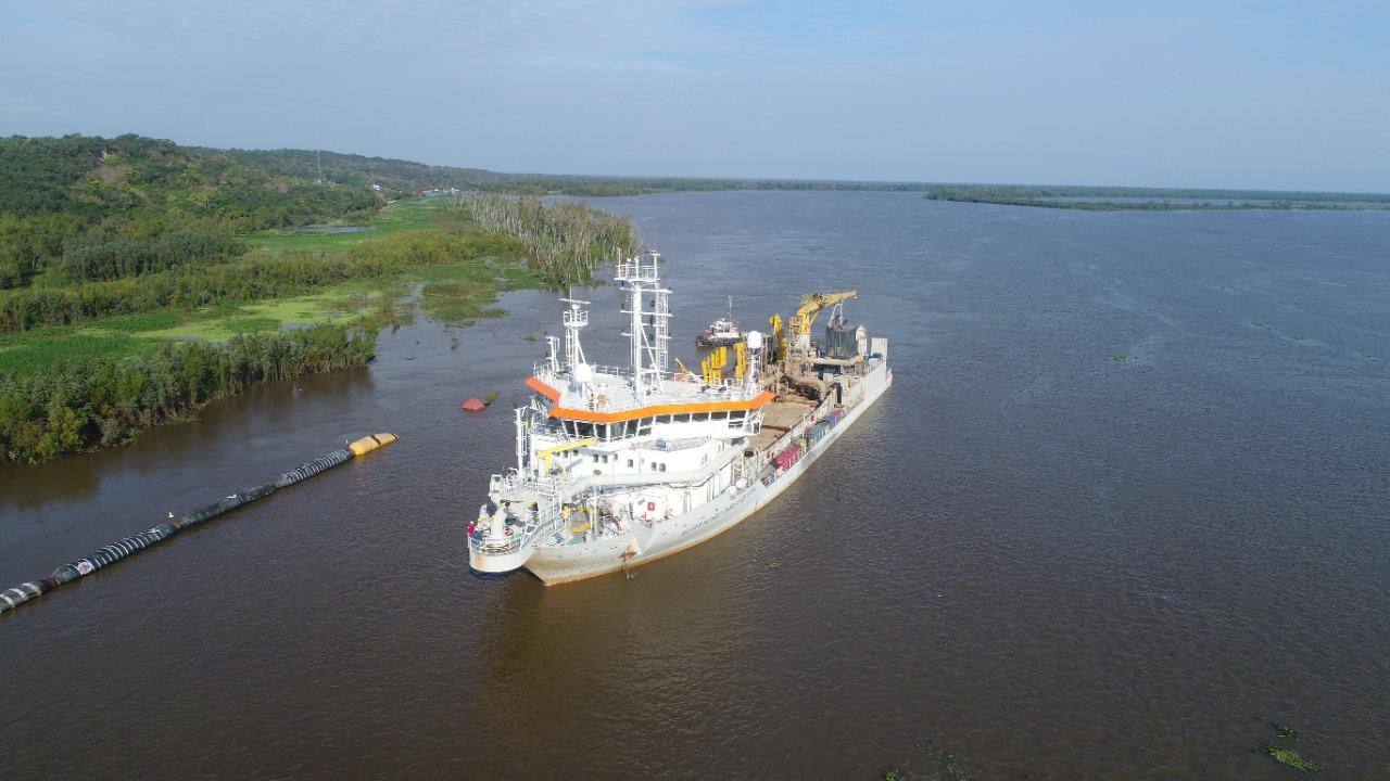 Jan de Nul terminó el dragado del Puerto de Villa Constitución en tiempo récord